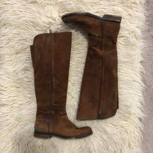FRANCO SARTO 7M brown calf boots.